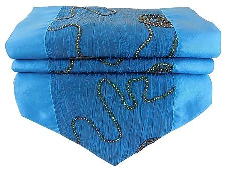 stickersquare Ranken Diamantes Azul Camino de Mesa Mantel para ...