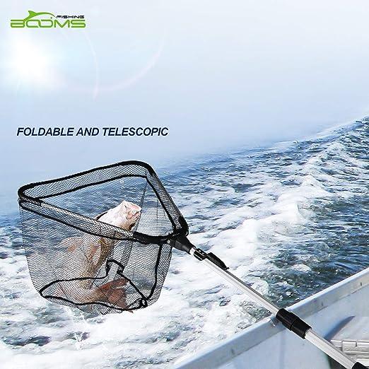Filet Pliant Compact 37.5 in Booms Fishing N04 Filet datterrissage de P/êche avec Poign/ée Telescopic