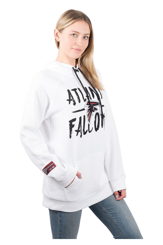 6473f083826 Amazon.com : NFL Women's Fleece Hoodie Pullover Sweatshirt Tie Neck, Team  Logo White : Sports & Outdoors