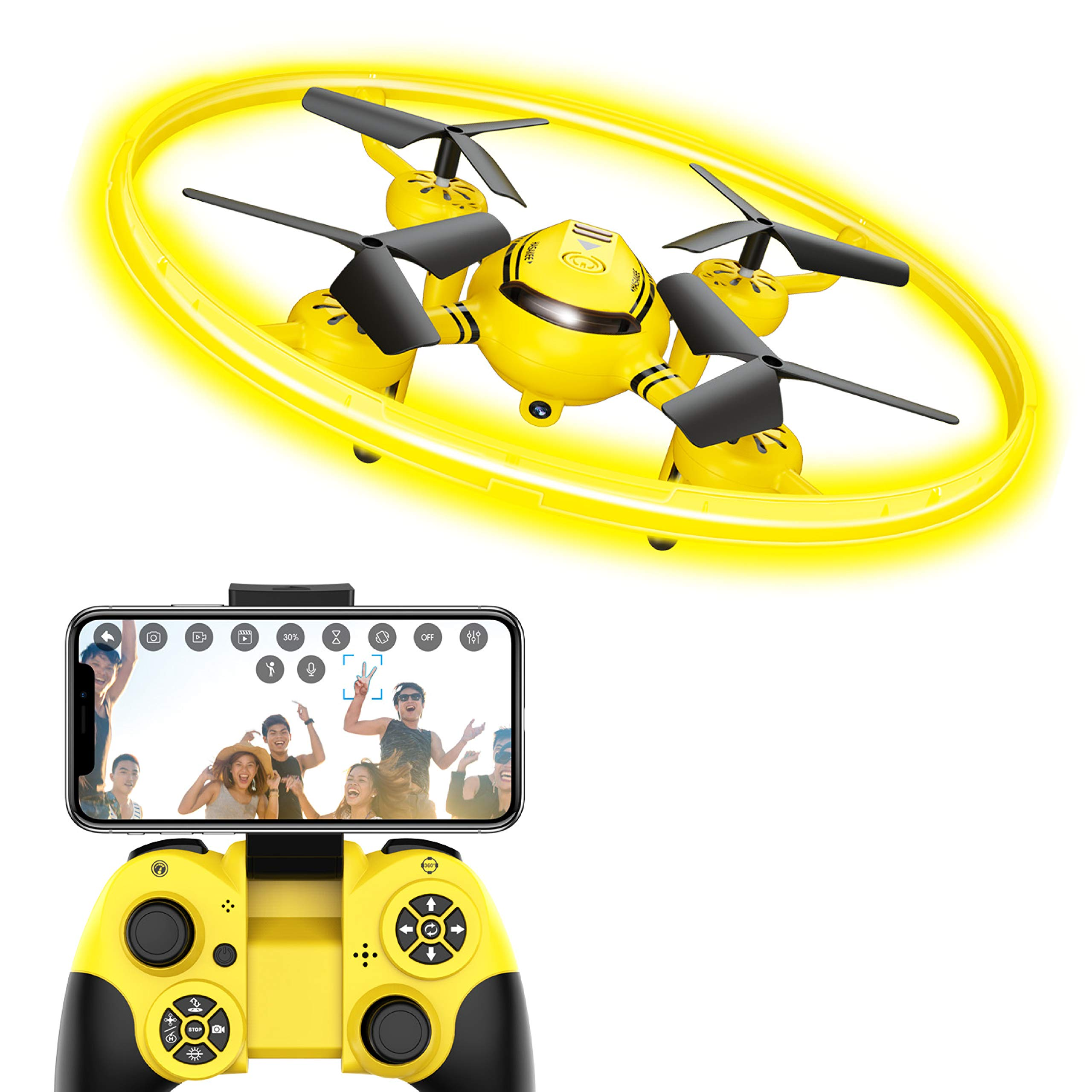 HASAKEE Q8 FPV Drone with HD Camera for Adults,RC Drones for Kids Quadcopter with Altitude Hold Gravity Sensor and Gesture Control,Gift Toy for Boys and Girls by HASAKEE