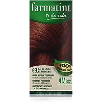 Farmatint Gel 4M Castaño Caoba, Color Natural y Duradero, Componentes Vegetales y Aceites Naturales, Sin Amoníaco, Sin…