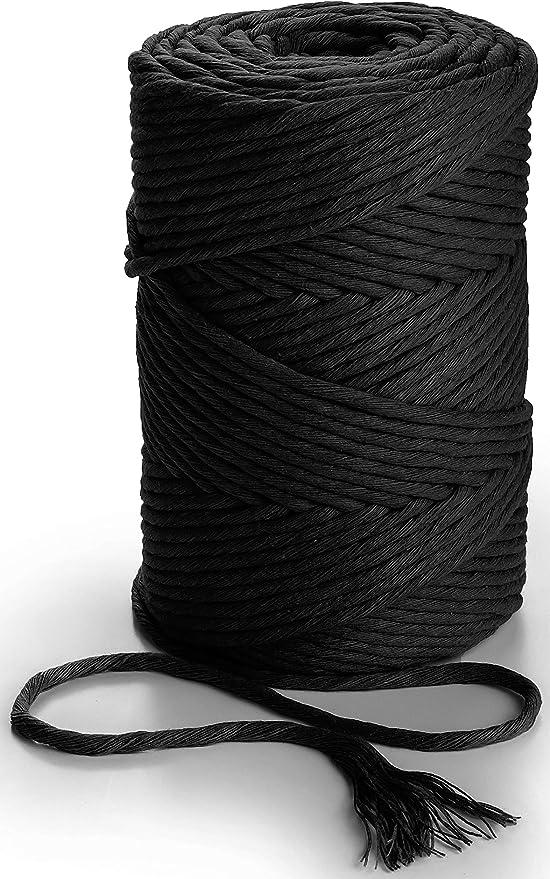 Craft Corde /à suspendre en macram/é color/é pour d/écoration artisanale durable torsad/ée 5 mm 100 m orange