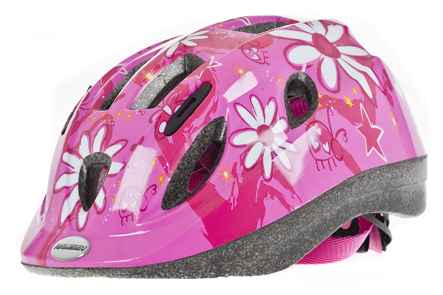 04ffecb049f0a Raleigh Mystery Pink Flower Girls Cycle Helmet  Amazon.co.uk  Sports    Outdoors