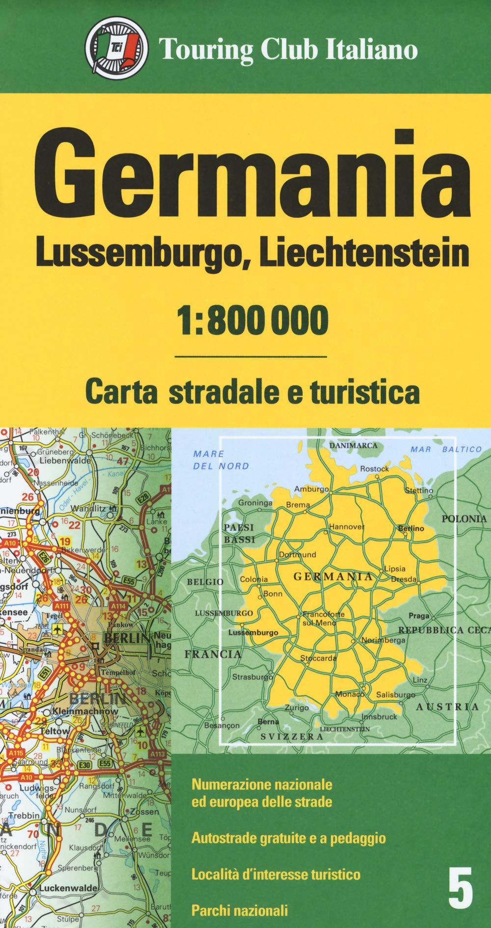 Dortmund Germania Cartina.Amazon It Germania Lussemburgo Liechtenstein 1 800 000 Carta Stradale E Turistica Libri