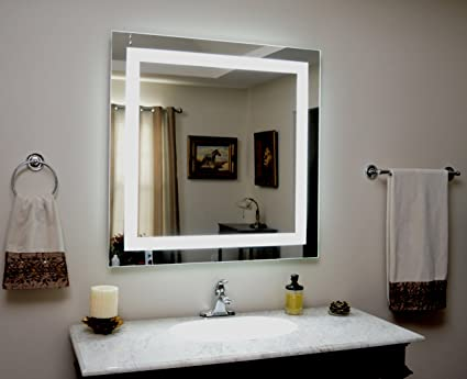 Amazon wall mounted lighted vanity mirror led mam84040 wall mounted lighted vanity mirror led mam84040 commercial grade 40quot aloadofball Choice Image