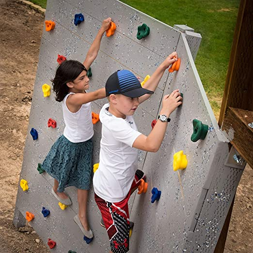 20 Presas de Escalada para Niños. Rocodromo Multipresa Infantil de Pared para Entrenamiento. Pernos, Arandelas y Llave Allen Incluidos.