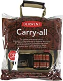 Derwent 2300671 Carry-All Bag, Canvas, 130 Pencil Plus Accessory and Sketchbook Storage Capacity, Professional Quality, 2300671