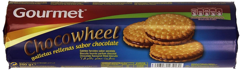 Gourmet Chocowheel Galletas Rellenas con Sabor a Chocolate - 250 g ...