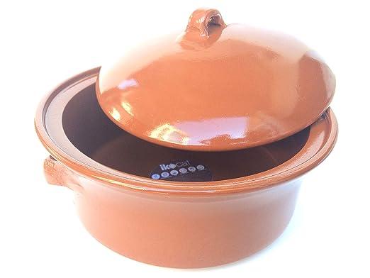 Ikocat® - Cacerola de Terracota (diámetro 32 cm, Apta para ...
