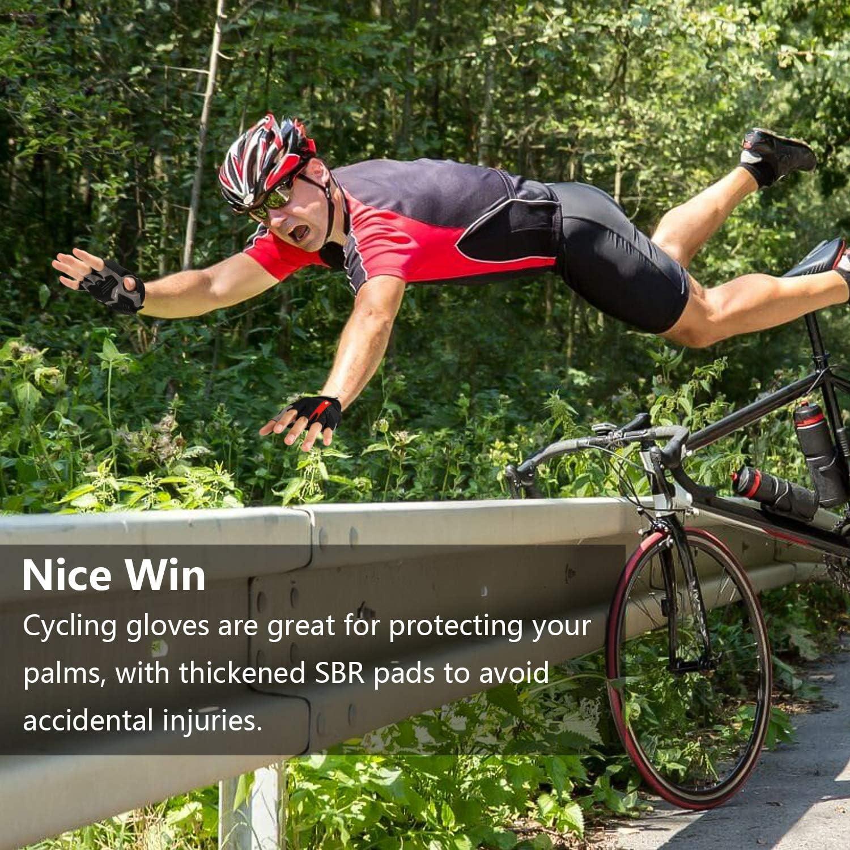 LOHOTEK Gants de V/élo de Montagne Rembourr/és de Moto de 6mm SBR pour Hommes Femmes Jeunes Gant VTT avec Coussinet Absorbant Les Chocs Mesh Respirant pour Les Sports de Plein Air Cyclisme sur Route