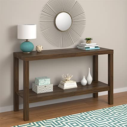 kitchen console table white parsons console table canyon walnut amazoncom walnut kitchen dining