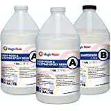 Magic Resin   3 Gallon (11.4 L)   2'' DEEP POUR, CASTING & ART Epoxy Resin Kit   Low VOC & Low Odor   Crystal Clear and High