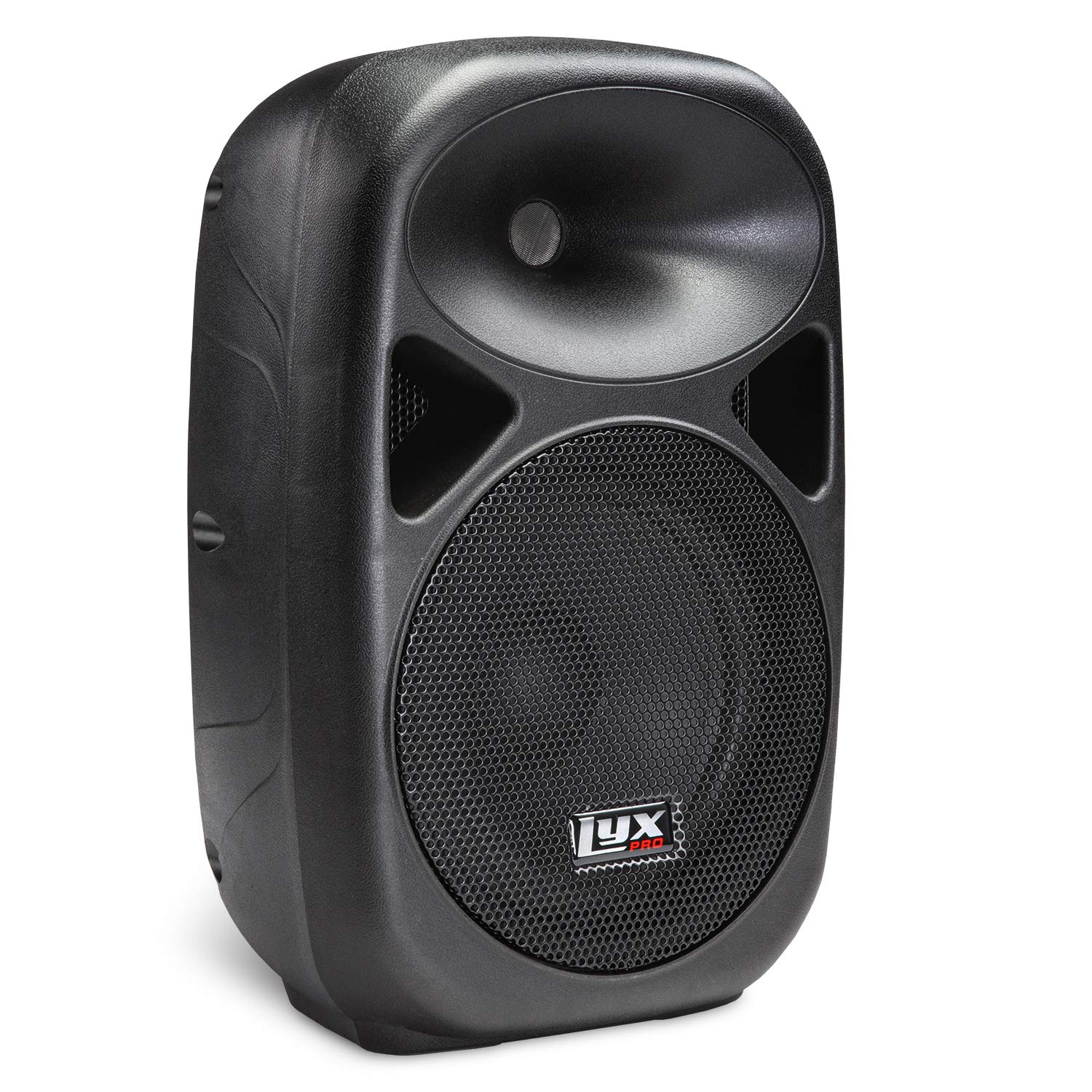 LyxPro SPA-8 Compact 8'' Portable PA System 100-Watt RMS Power Active Speaker Equalizer Bluetooth SD Slot USB MP3 XLR 1/4'' 1/8'' 3.5mm Inputs