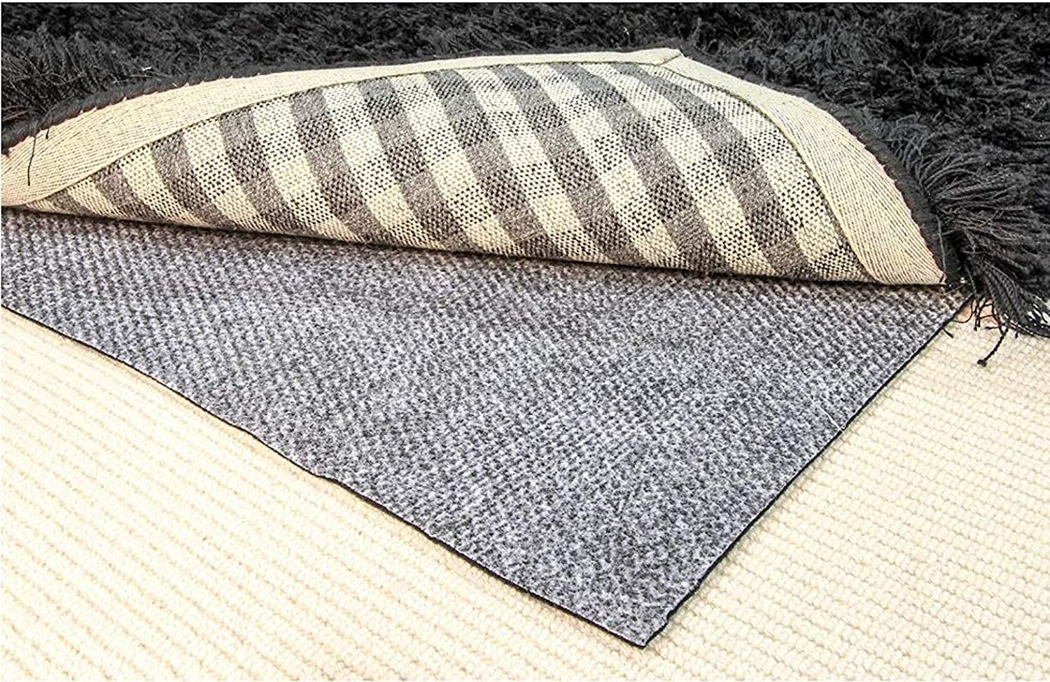 """Hold-a-Rug Plush 2' x 4' Nonskid, Nonslip Rug Pad, 1/4"""" Thick, Safe for All Floors and Carpet"""