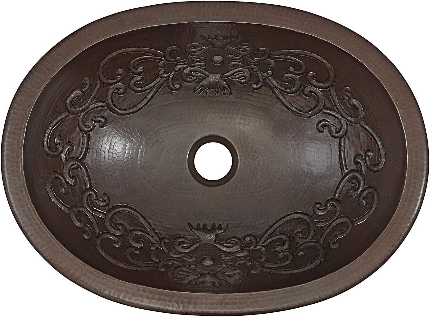 Aged Copper Sinkology SB202-19SC-F042-AMZ Pauling Undermount or Drop Bath Sink Pfister Ashfield Faucet and Drain Bathroom All-in-One Kit