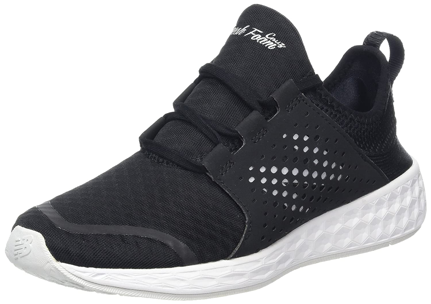 New Balance Women's Fresh Foam Cruz V1 Mesh Running Shoe B01LXMQDH7 12 B(M) US|Black/White
