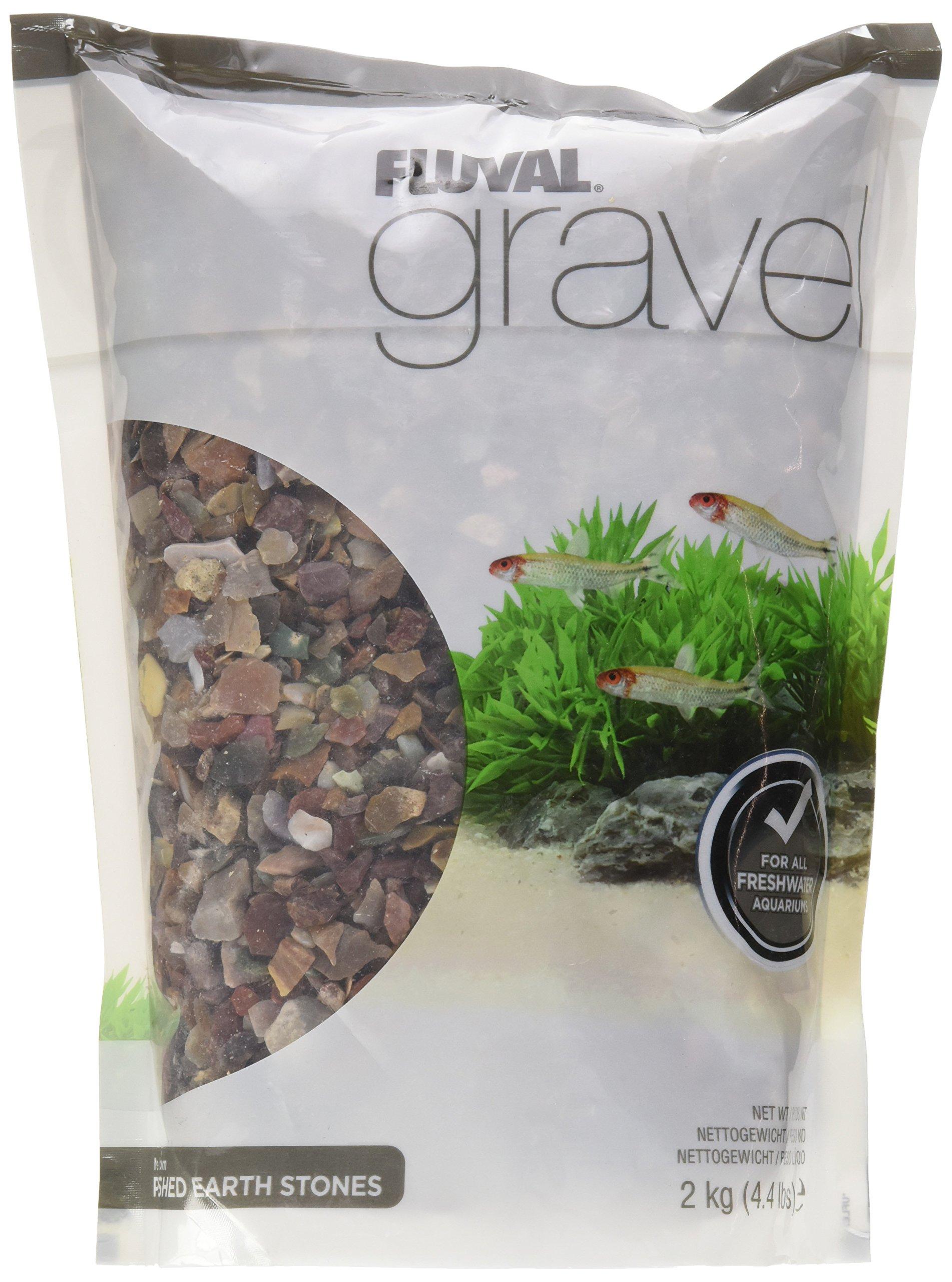 Fluval Polished Fancy Jasper Gravel for Aquarium, 4.4-Pound by Fluval