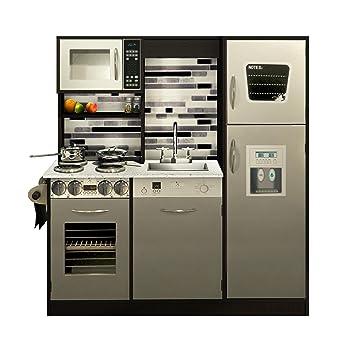 Amazon.com: Naomi Home Kids Gourmet Kitchen Set, Espresso: Toys ...