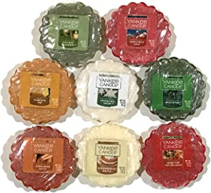 Yankee Candle Tarts Wax Melts Sampler Pack, Winter/Holiday Scents (8 Pack)