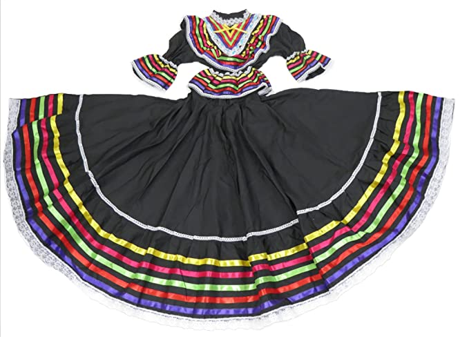 Amazon.com  Ethnic Identity Girls Mexican Dress Vestido Jalisco ... 7fa58a8c7ef