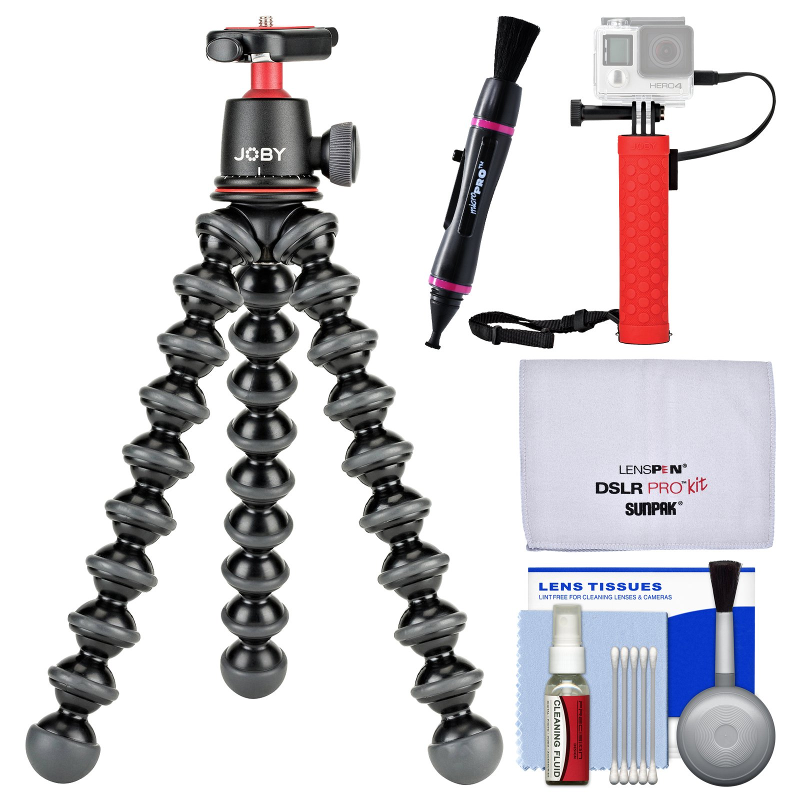 Joby GorillaPod 3K Flexible Mini Tripod with Ball Head Kit + Hand Grip + Lens Pen + Kit by Joby