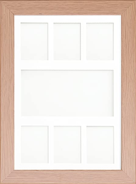 Multi Aperture Collage Picture Photo Frames Oak Frame White & Ivory ...