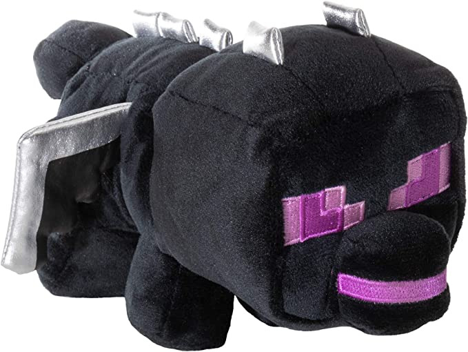 JINX Minecraft Happy Explorer Sitting Ender Dragon Plush Stuffed Toy 5.5 Tall Black