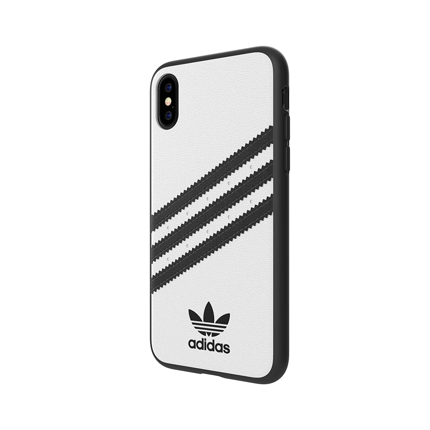Adidas Originals Moulded Case Pu For Iphone X Xs White Adicolor Black Cell Phones Accessories