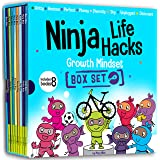 Ninja Life Hacks Growth Mindset 8 Book Box Set (Books 9-16: Perfect, Money, Anxious, Gritty, Dishonest, Shy, Unplugged, Diver