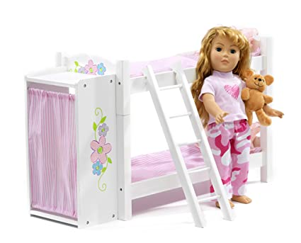 Amazon Com American Girl Doll Bunk Bed Armoire 18 Inch Dolls