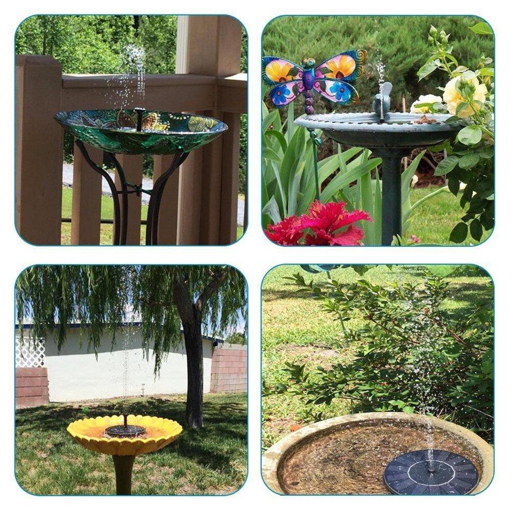 Solar Pumpe Springbrunnen Brushless Pump Plants Gie/ßkit Set mit 1.4W Monokristallinem Solarmodul f/ür Vogelbad Gartenteich Energieeinsparung Umweltfreundlich Universal etc