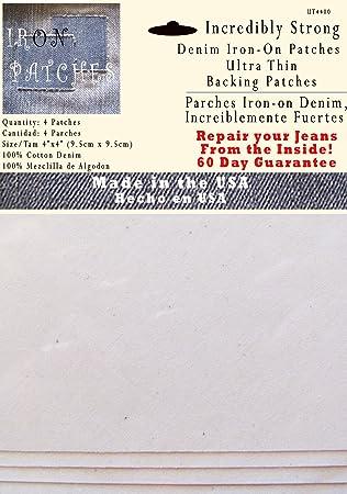 4parches de refuerzo ultrafinos - Parche interior superfuerte para aplicar con la plancha -