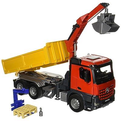 Bruder MB Arocs Construction Truck with Accessories - vehículos de Juguete (Rojo, Amarillo, Niño): Star Wars: Juguetes y juegos