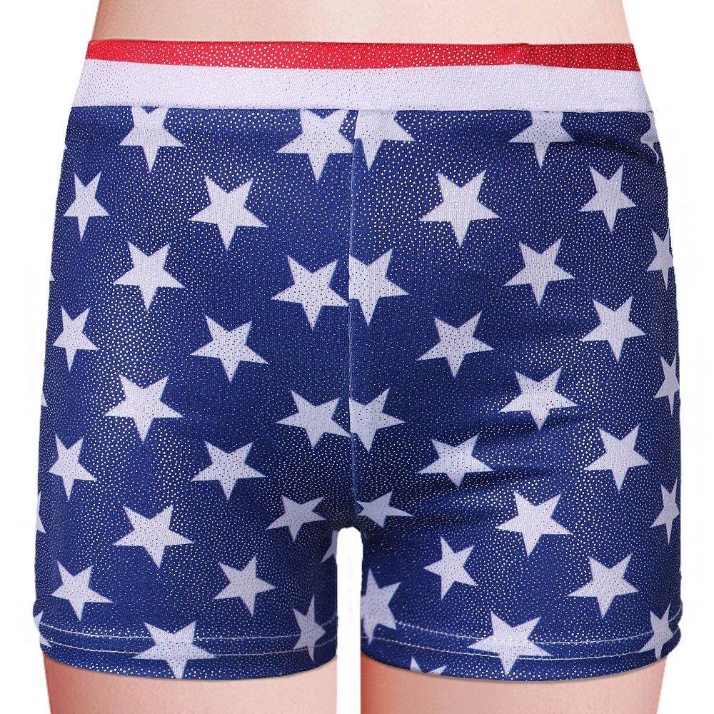 1dd869435 Galleon - BAOHULU Girls Leotards For Gymnastics Blue American Flag ...