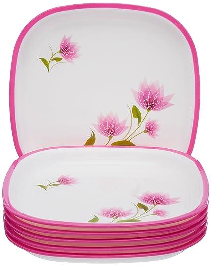 Nayasa Dlx M.F. Square Quarter Plate Set Set of 6 Pink  sc 1 st  Amazon.in & Buy Nayasa Dlx M.F. Square Quarter Plate Set Set of 6 Pink Online ...