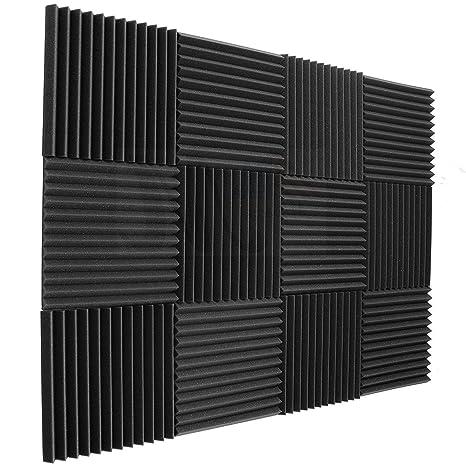 amazon com 12 pack acoustic panels acoustic foam panels sound