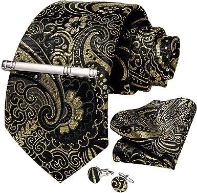 Tie Neck tie with Handkerchief Black