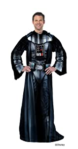 "Disney's Star Wars, ""Being Darth Vader"" Adult Comfy Throw Blanket with Sleeves, 48"" x 71"", Multi Color"