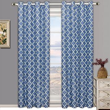 Amazon.com: Meridian Periwinkle Grommet Blackout Window Curtain ...