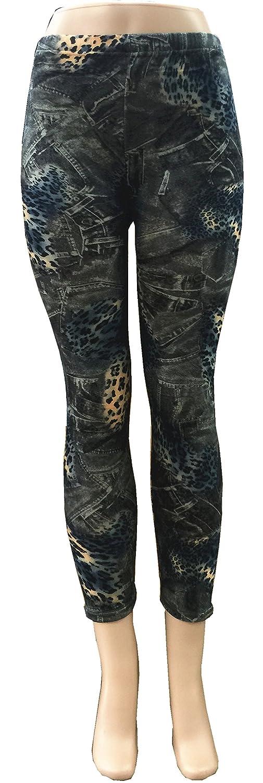 Abstract Pattern, Winter Legging Inside Furry Style L2-27 Multi