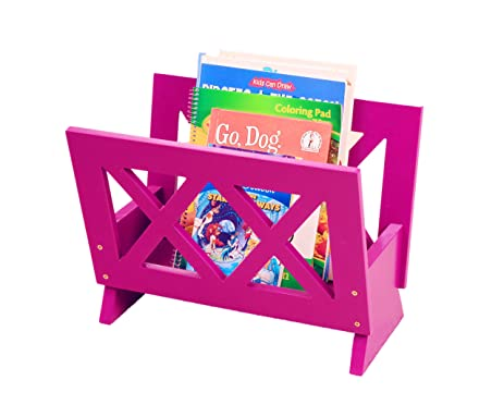 Frenchi Home Furnishing Contemporary Magazine Rack, Purple