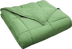 SUPERIOR Classic All-Season Down Alternative Comforter with Baffle Box Construction, King, Terrace Green