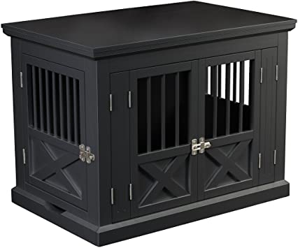 Amazon Com Zoovilla Merry Products Triple Door Medium Dog Crate Dog Kennel Dog Cage Pet Supplies