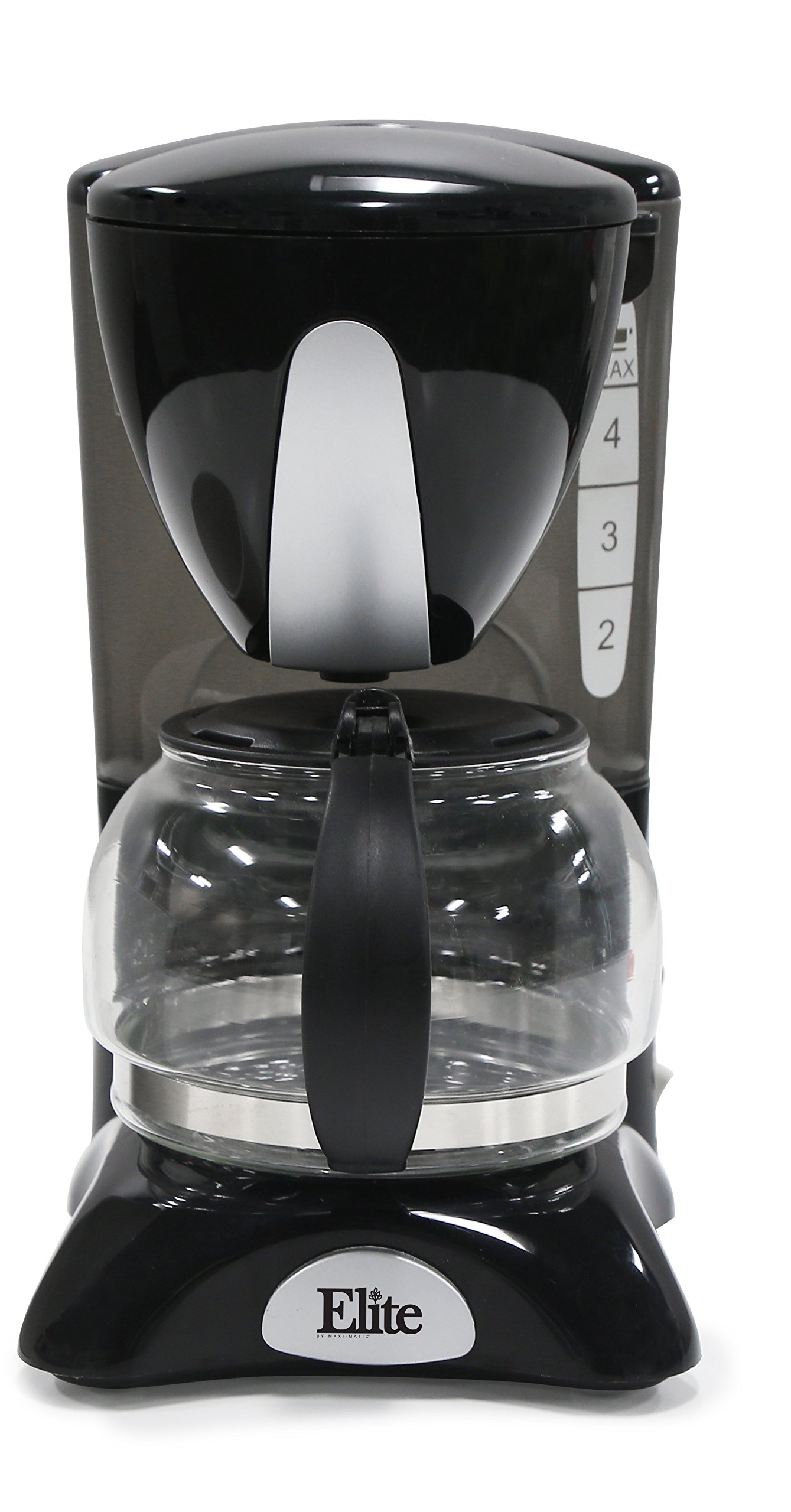 Elite Cuisine EHC-2022 Maxi-Matic 4 Cup Coffee Maker with Pause and Serve, Black