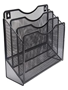 EasyPAG Mesh Desktop/Wall Mounted File Holder Organizer Literature Rack Black