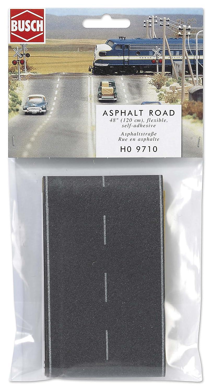 "B0002OHD7M Busch 9710 Asphalt Road Wht Mrks 48"" HO Scale Scenery Kit 81HZZpX7MWL"