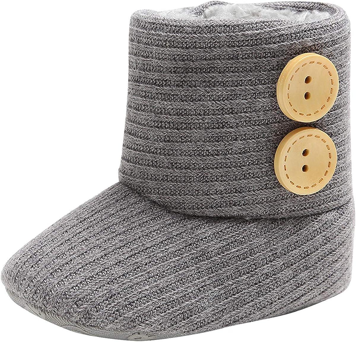 vanberfia Unisex Baby Soft Sole Snow Boots Infant Warm Winter for 0-18 Months
