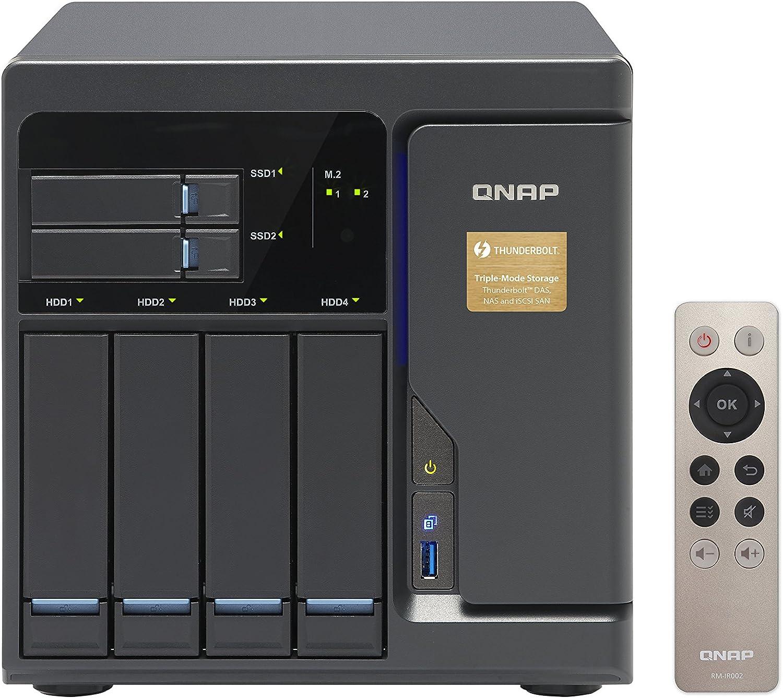 QNAP TVS-882 Ethernet Torre Gris NAS - Unidad Raid (Unidad de Disco Duro, SSD, M.2,Serial ATA III, 2.5/3.5