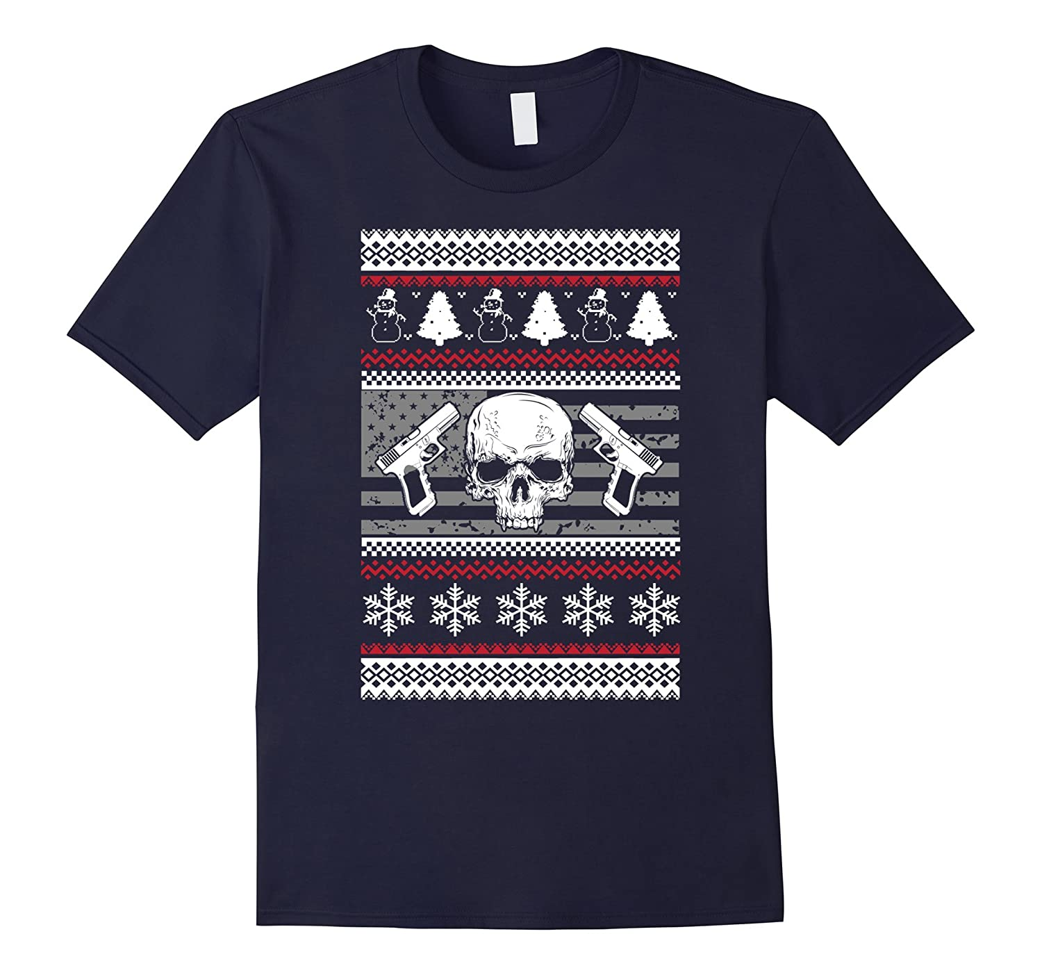 2nd Amendment Ugly Christmas Sweater Style Shirt Xmas Guns-Art