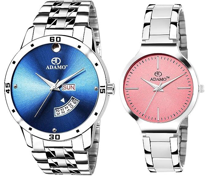 Adamo Designer Couple Combo Wrist Watch - 816SM06-824SM05